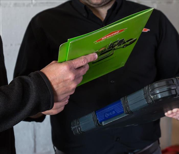 SERVPRO clipboard and folder